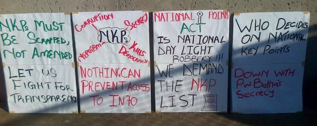 Right2Know wants National Key Points revealed