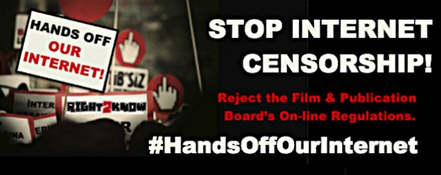Stop the Film and Publications Board's attempt to censor the Internet!