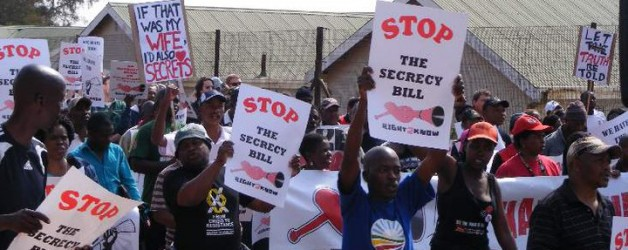 Gauteng Right2Know Campaign SECRECY BILL PROTEST PICKETS