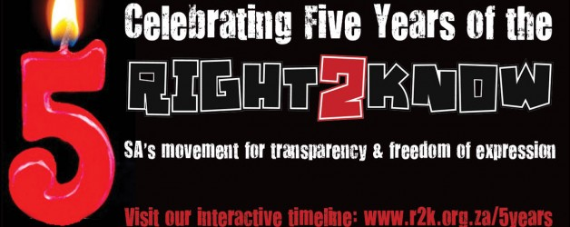 Celebrating 5 years of SA's freedom of expression & transparency movement
