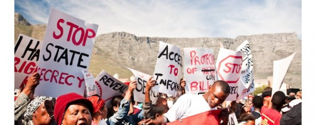 South Africa: R2K to protest Secrecy Bill