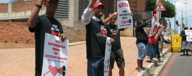 R2K Gauteng Secrecy Bill Picket at Constitutional Court Precinct