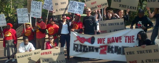 STATEMENT: R2K to Protest Picket outside Swazi Embassy in Pretoria