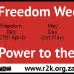Freedom Week 2017: PROGRAMME