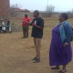 Bongani attending Vaal assembly meeting together with Cleo from 350.org