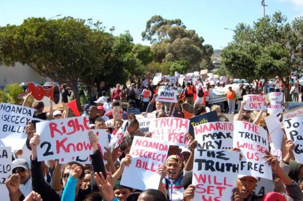 FILE PICTURE: Protestors. Image courtesy Right2Know