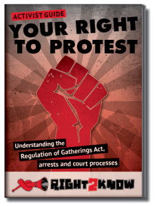 Download R2K's activist guide on the right to protest